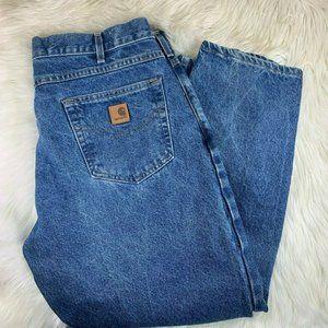 Carhartt Blue Jeans Denim Medium Wash Size 38 Wais